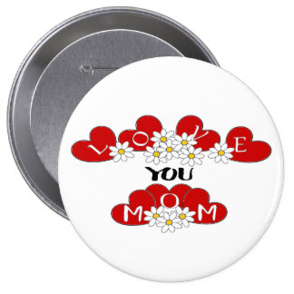 """love you mom"" ❤️ Button pin  ""Lighthouse Route"""