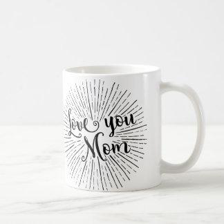 love you mom christmas mug for mother