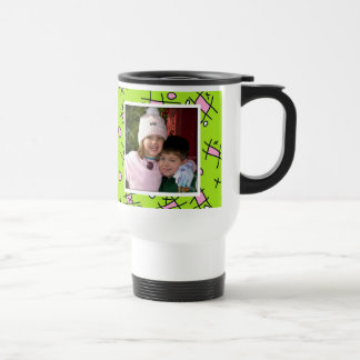 Love You Mom, Pink and Green Photo Coffee Mug
