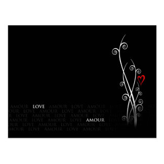 LOVE YOU MON AMOUR POSTCARD