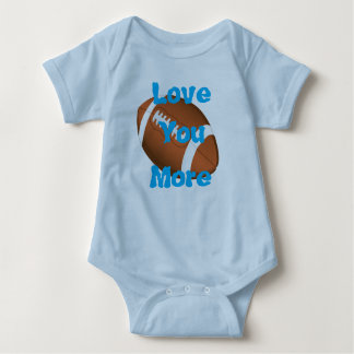 Love You More Football Baby Bodysuit