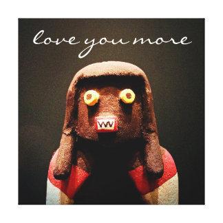 """Love You More"" Quote Cute Funny Odd Face Photo Canvas Print"