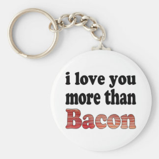 Love You More Than Bacon Keychain