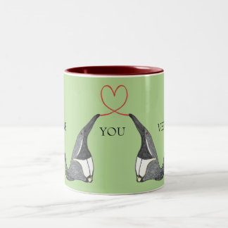 Love you mug with cute Anteaters