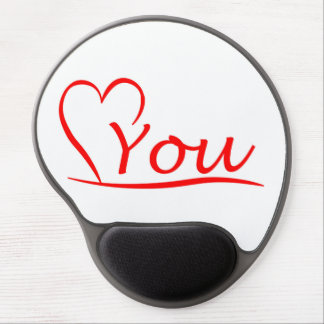 Love You, my heart is always open for you Gel Mouse Pad