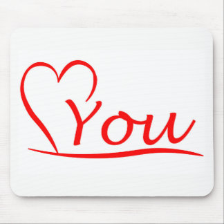 Love You, my heart is always open for you Mouse Pad