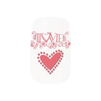 Love You nails Minx Nail Art