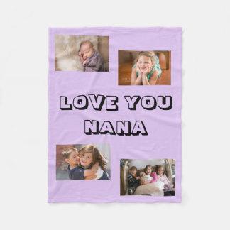 Love You Nana Fleece Blanket