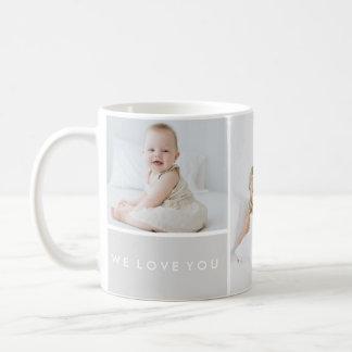 Love You Photo Collage Classic White Coffee Mug