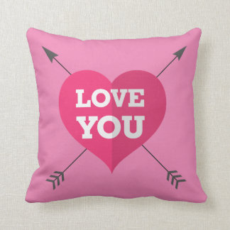 Love You Pillow 16x16