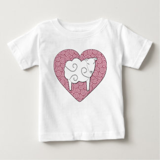 Love You Pun Heart with Sheep Shirt