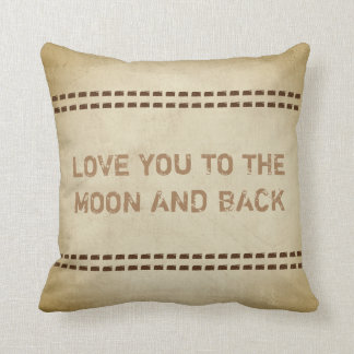 love you quote pillow rustic chic style sepia tone