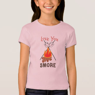 Love you Smore Girl's Camping T-shirt