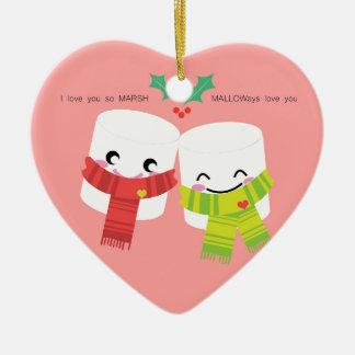 love you so MARSH. MALLOWays love you. Ceramic Heart Ornament