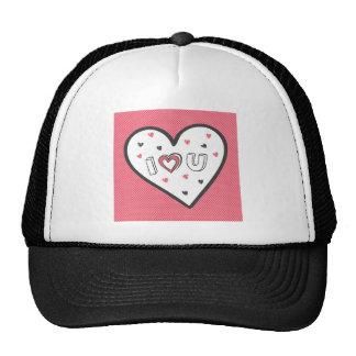 Love You So Much Romance Pink Heart Cute Sweet Trucker Hat