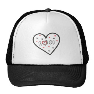 Love You So Much Romance Pink Heart Cute Sweet Trucker Hat