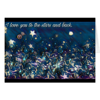 Love You - Stars & Back Card