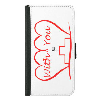 Love You, successfully with you together Samsung Galaxy S5 Wallet Case