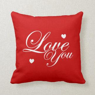 Love You Text Art Throw Pillow