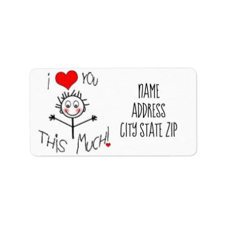 **LOVE YOU THIS MUCH** ADORABLE ADDRESS LABELS