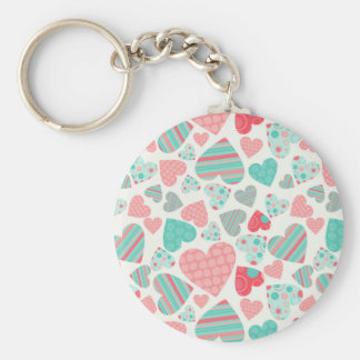 Love You to Pieces Basic Round Button Keychain