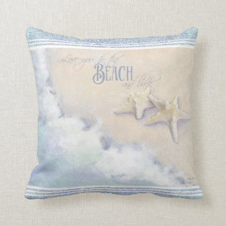 Love You to the Beach and Back Starfish Ocean Sand Throw Pillow