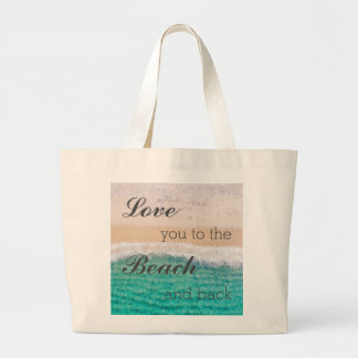 Love You To The Beach & Back Cotton Tote