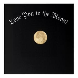 Love you to the moon acrylic wall art