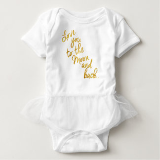 """Love You To the Moon and Back"" Gold Foil Top"