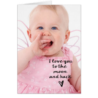 Love you to the moon and back heart greeting card