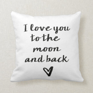 Love you to the moon and back heart pillows