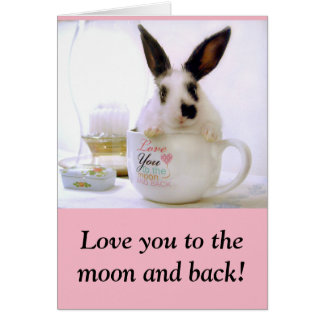 Love you to the moon and back! note card