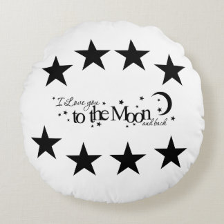 Love You To The Moon And Back Slogan Cushion
