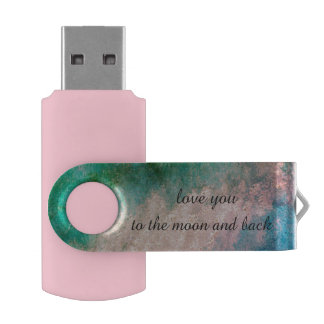 love you to the moon and back USB by DAL USB Flash Drive