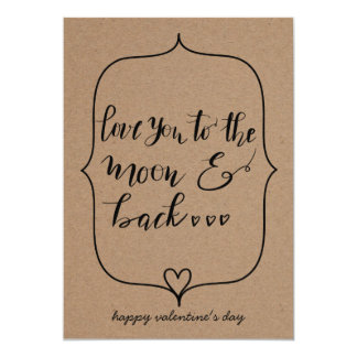 Love You To The Moon And Back Valentines Day Card