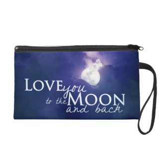 Love you to the moon and back wristlet