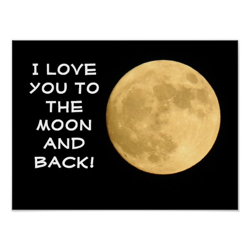 Love you to the Moon!  -- Art Poster/Print Poster