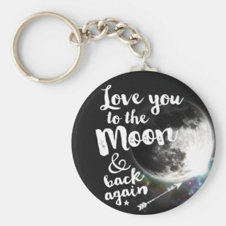 Love you to the Moon & back again • Space Design Keychain