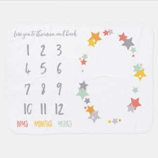 Love You to the Moon & Back Milestone Blanket