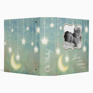Love you to the Moon & Back Sparkling Stars Baby Binder