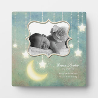 Love you to the Moon & Back Sparkling Stars Baby Plaque