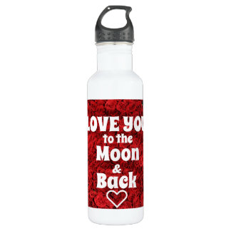 Love you to the moon & back water bottle