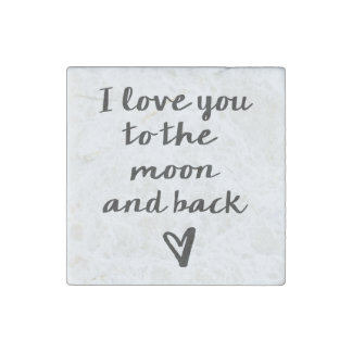 Love you to the Moon Stone Magnets