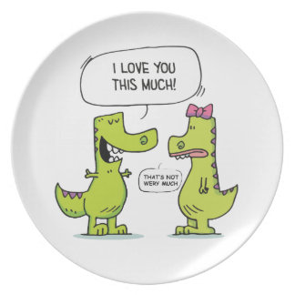 LOVE YOU TREX PLATE