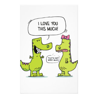 LOVE YOU TREX STATIONERY