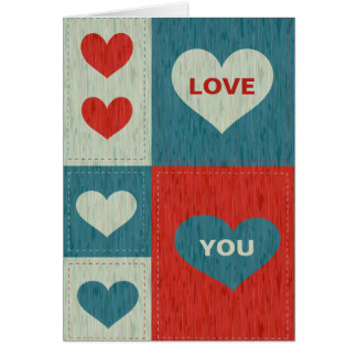 Love You with hearts Card