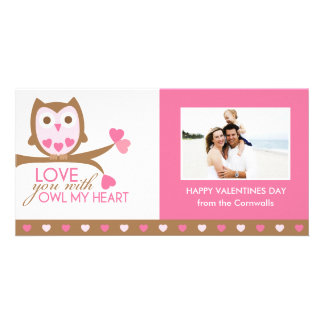 Love you with owl my heart card