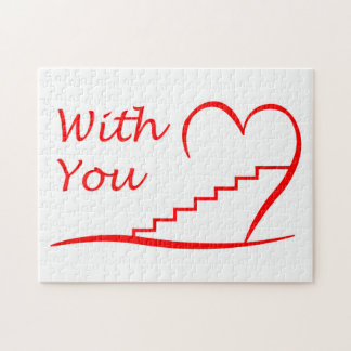 Love You, with you together the stairs up Jigsaw Puzzle