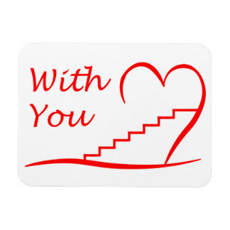 Love You, with you together the stairs up Magnet