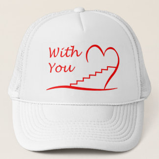 Love You, with you together the stairs up Trucker Hat